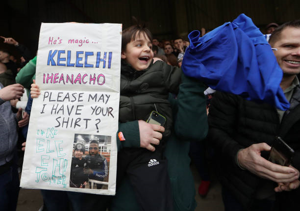 Magical! Iheanacho warms Young Leicester Fan's Heart after FA Cup Match
