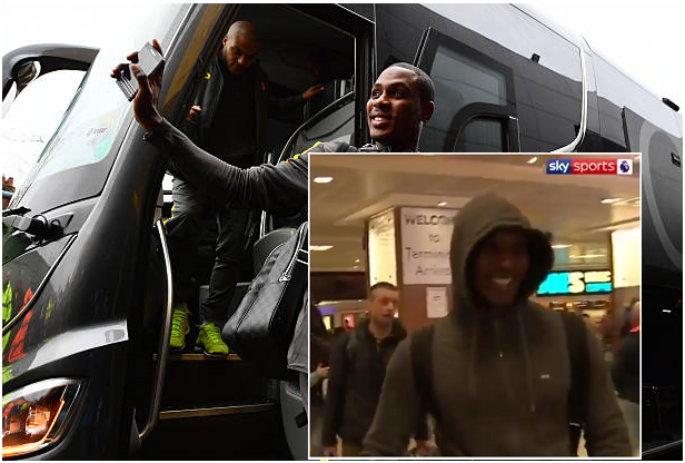 Odion Ighalo Arrives UK, Will Join Manchester United Training on Monday