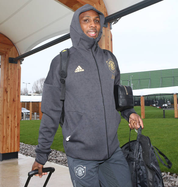 Ighalo is All Smiles During Training with Man United Teammates Ahead Europa League Debut