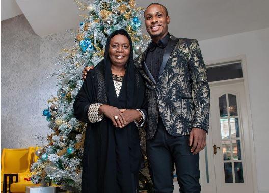 Man United striker, Odion Ighalo celebrates Mum at 75