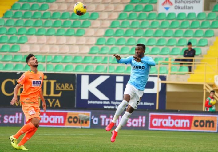 Olanrewaju Fires Blank in Super Lig defeat to Alayanspor