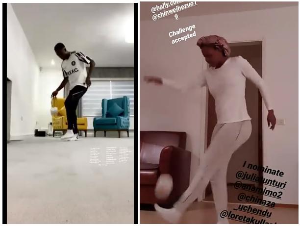 Nigerian Footballers Ndidi, Okobi Kill Boredom with 'Stay At Home Challenge'