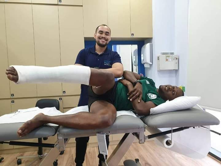 Nigerian top referee Ferdinand Udoh celebrates successful Achilles surgery a year after