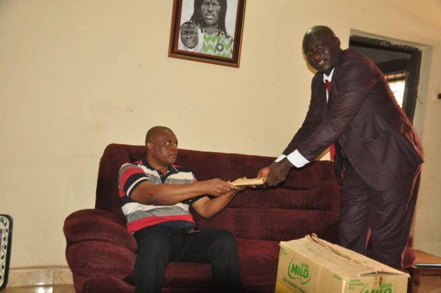 Sports Minister Lifts Okwaraji's Mother With Gifts, Cash, Places Her On Monthly Allowance