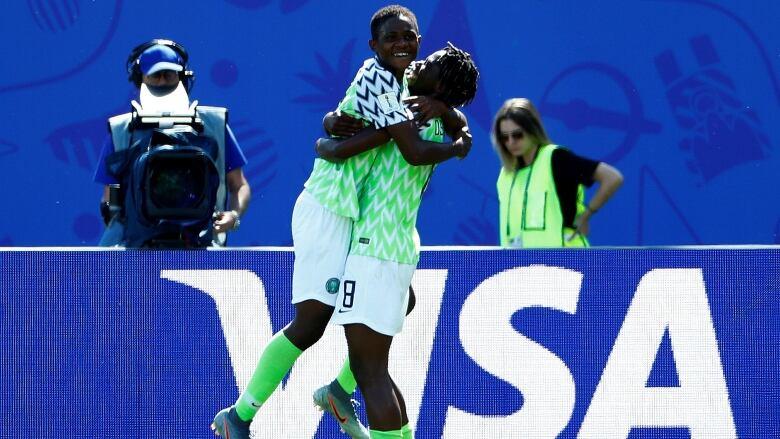Super Falcons star Okeke talks up relationship with Oshoala