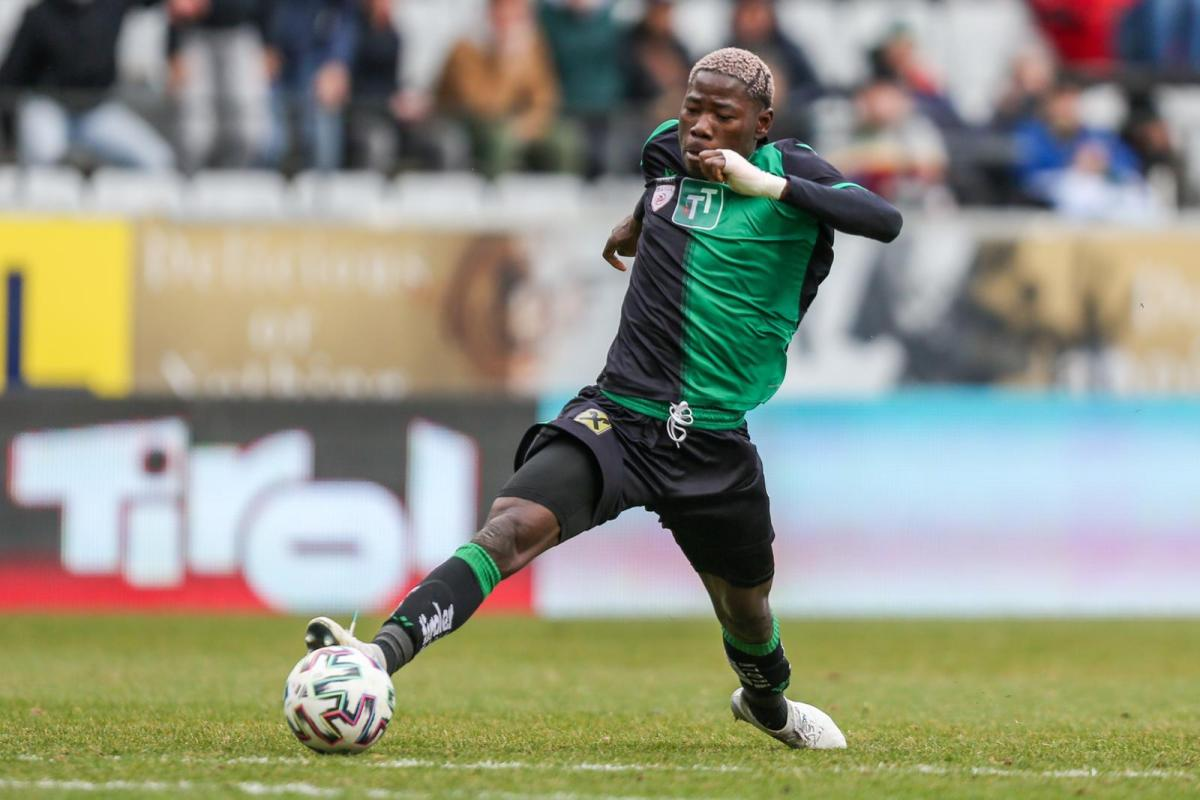 Faleye came off the bench to lift Wacker Innsbruck above Wale Alli's Amstetten