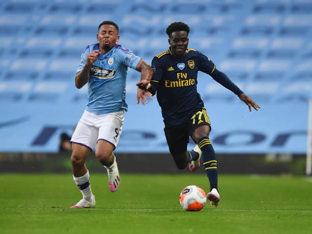 Man City hands Saka's Arsenal first league defeat in 2020