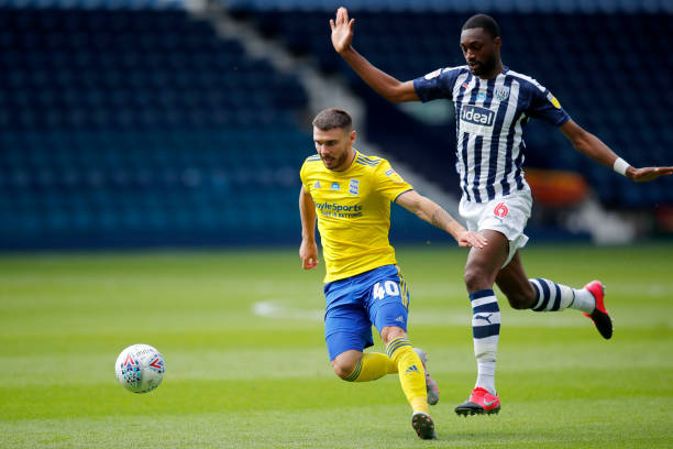 Semi Ajayi in action as West Brom's title aspirations suffer setback