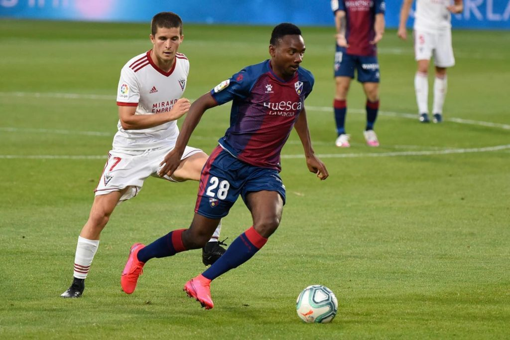 7.1% rating, 4 tackles won and 90 % passes completed: Nwakali stars as Huesca emerge champions