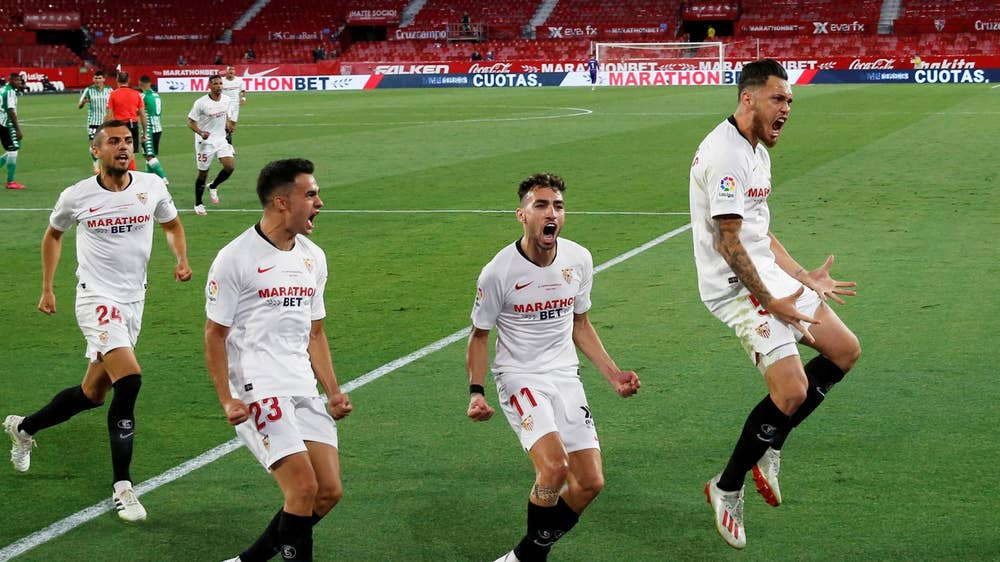 Sevilla thump Real Betis 2-0 as La Liga returns after three months covid19 break