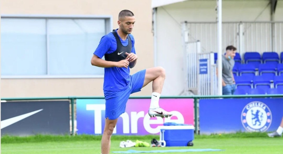 Hakim Ziyech reports for Chelsea training