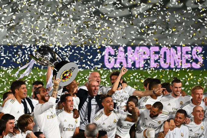 Real Madrid wins Laliga for record 34th time