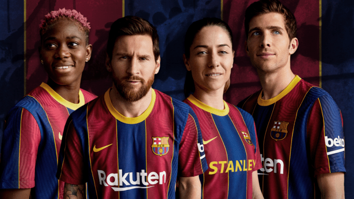 FC Barcelona officially presents 20/21 jersey