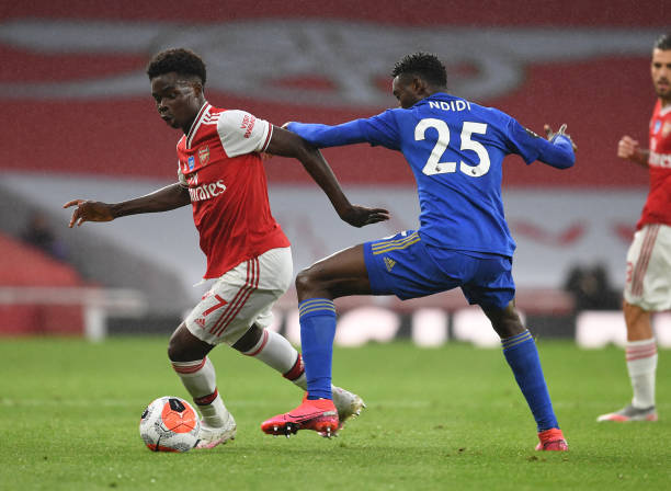 Saka outshines Nigerian brothers as Arsenal and Leicester City shares the spoils