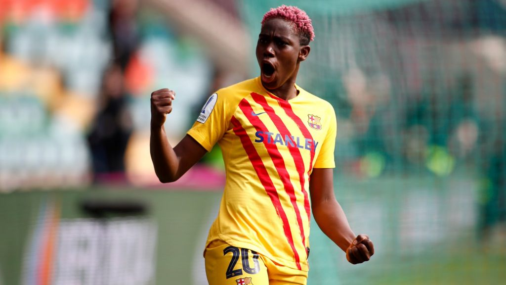 Barca's Oshoala delighted with her current run of form