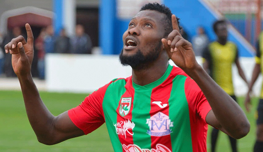 Sikiru Alimi scores for Stade Tunisien in 2-1 loss to US Tataouine
