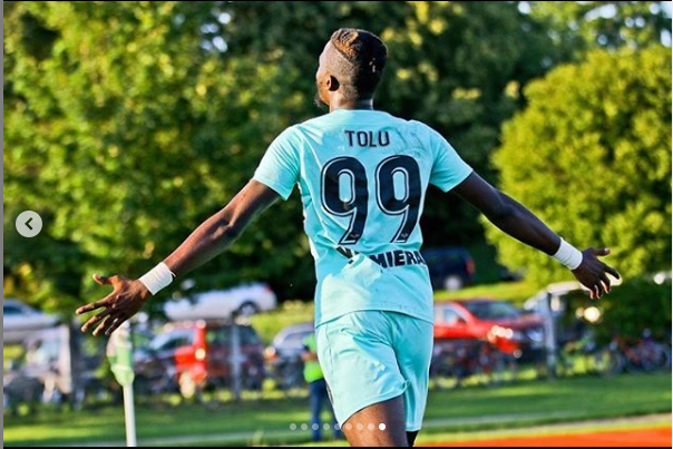 Tolu Arokodare bags another brace for Valmiera to take his tally to 14 goals