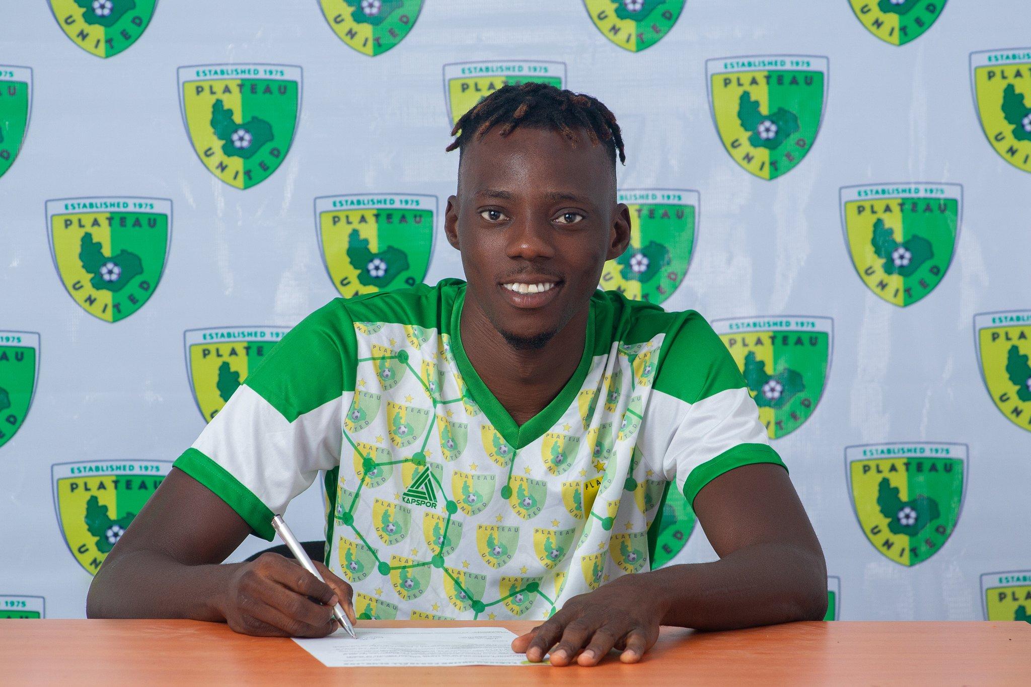 Plateau United completes the signing of Sunday Adetunji