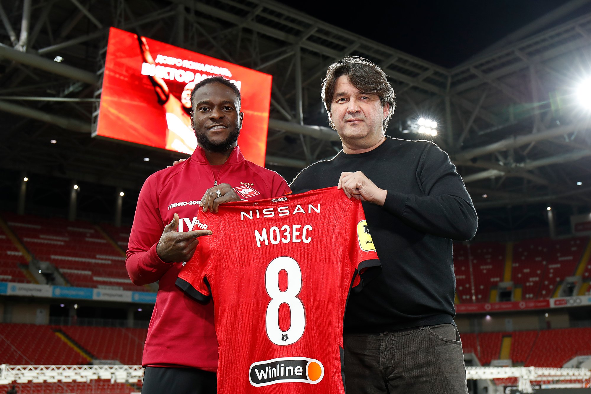Spartak Moscow unveils Victor Moses