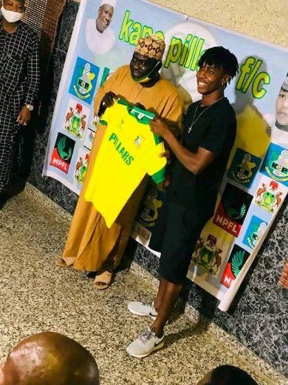 Kano Pillars unveils new signing Ezekiel Tamara