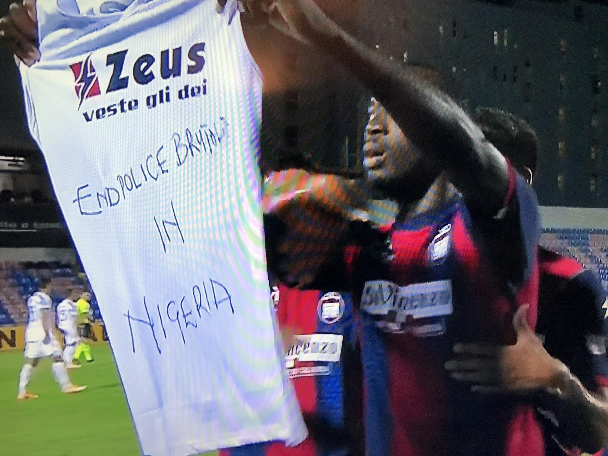 #EndSARS: Simy Nwankwo scores against Juventus, shows solidarity