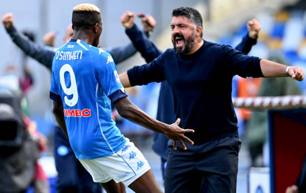 Gattuso happy with Osimhen's first Napoli goal