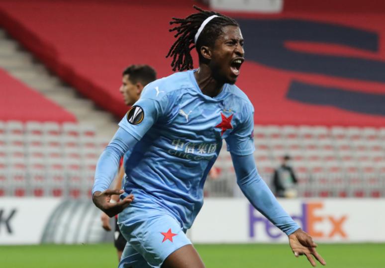 Europa League : Peter Olayinka inspires Slavia Prague win over OGC Nice