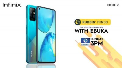 Infinix Note 8 on celebrity talk show Rubbin minds with Ebuka, first smart phone in Nigeria