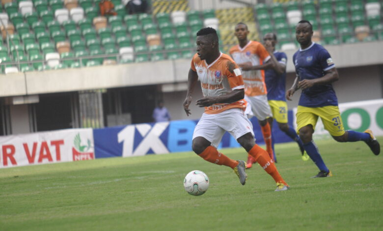 Ndifreke Effiong's brace condemned Abia Warriors to third straight defeat