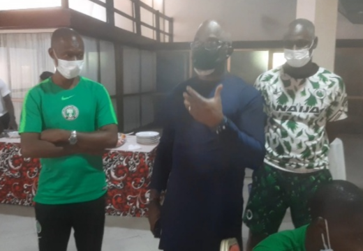 WAFU Cup : Pinnick charges Eaglets to go for victory against Ghana