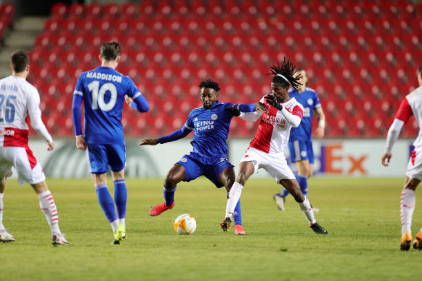 UEL : Peter Olayinka fancies Slavia Prague's chances against Leicester City