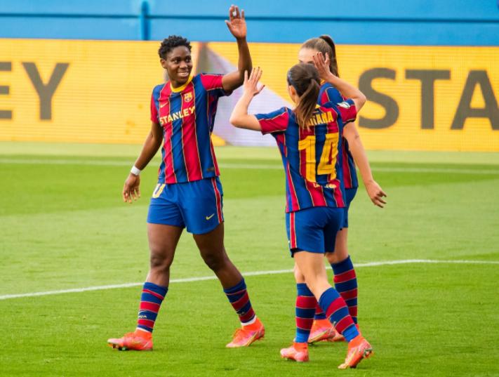 Asisat Oshoala marks 27th birthday with a goal for Barcelona