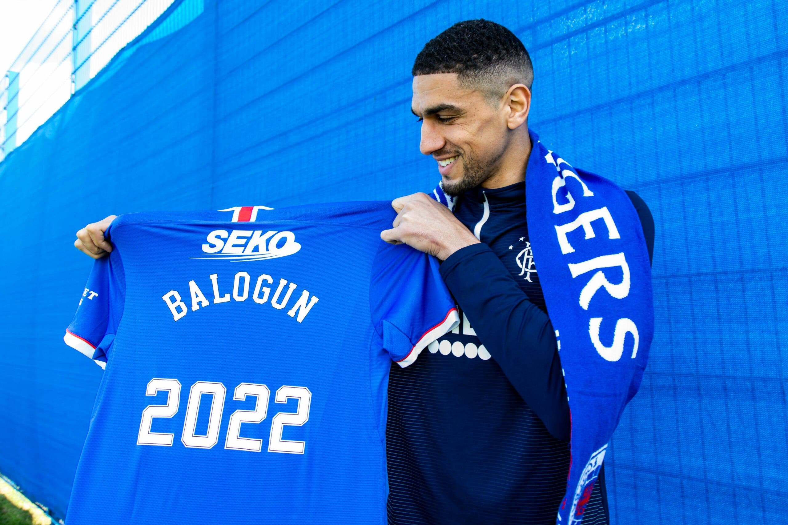 Balogun proud to sign contract extension with Rangers