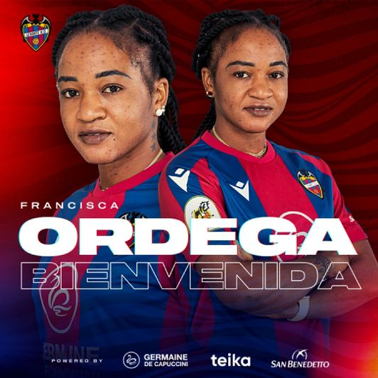 Super Falcons Star Francisca Ordega signs two and a half year deal with Levante