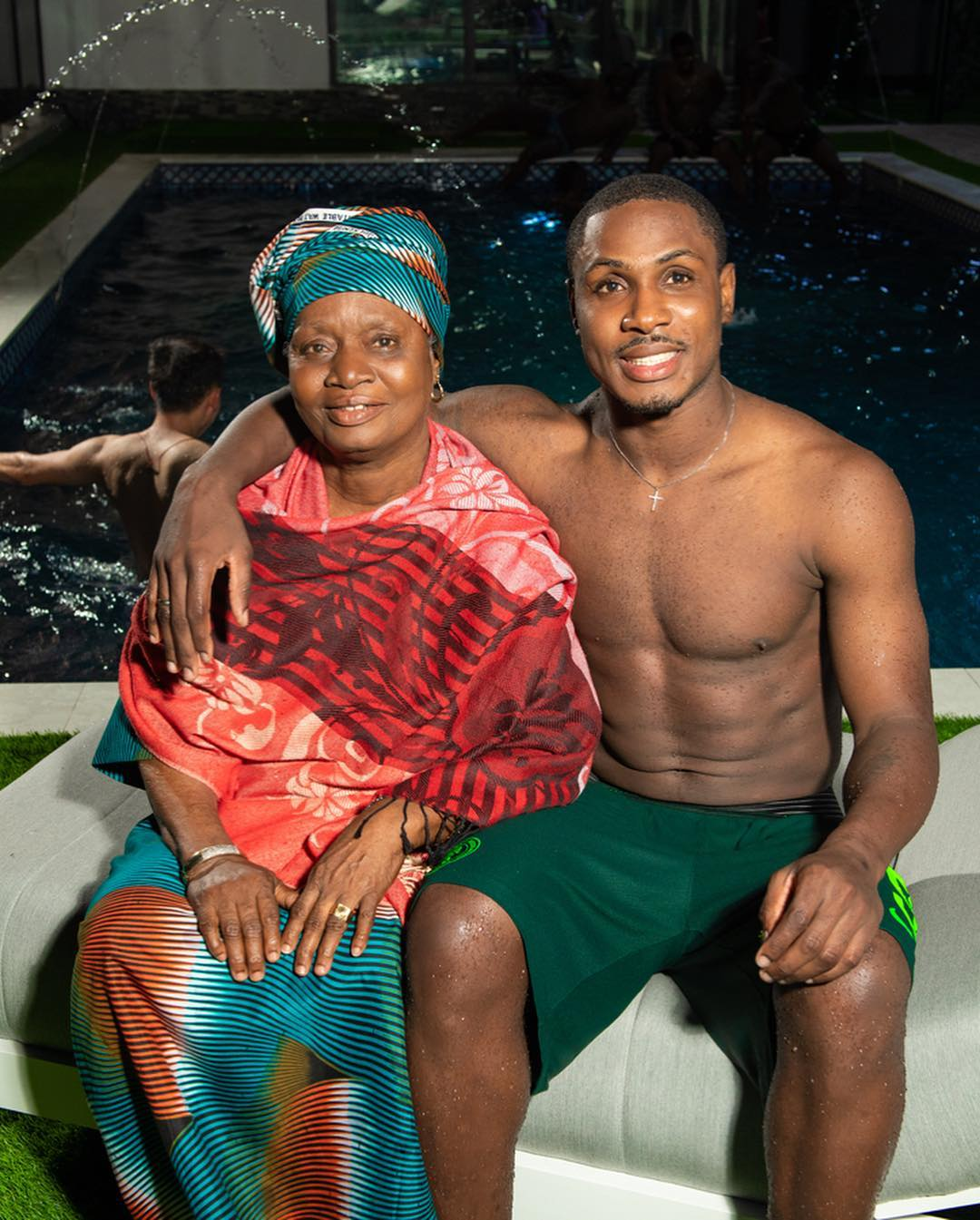 Ighalo happy to have his mother watch him play for the first time