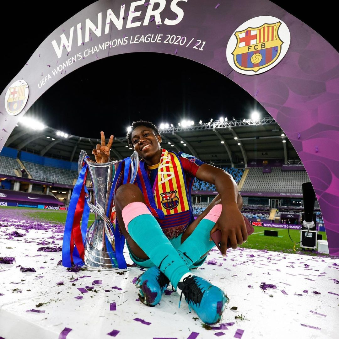 How Oshoala became the first African to win UEFA Women's Champions League