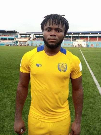 Samuel Stone happy with his form at Jigawa Golden Stars