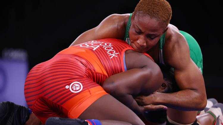 Silver for Nigeria! Oborududu bows 4-1 to USA's Tamyra Marianna in wrestling finals