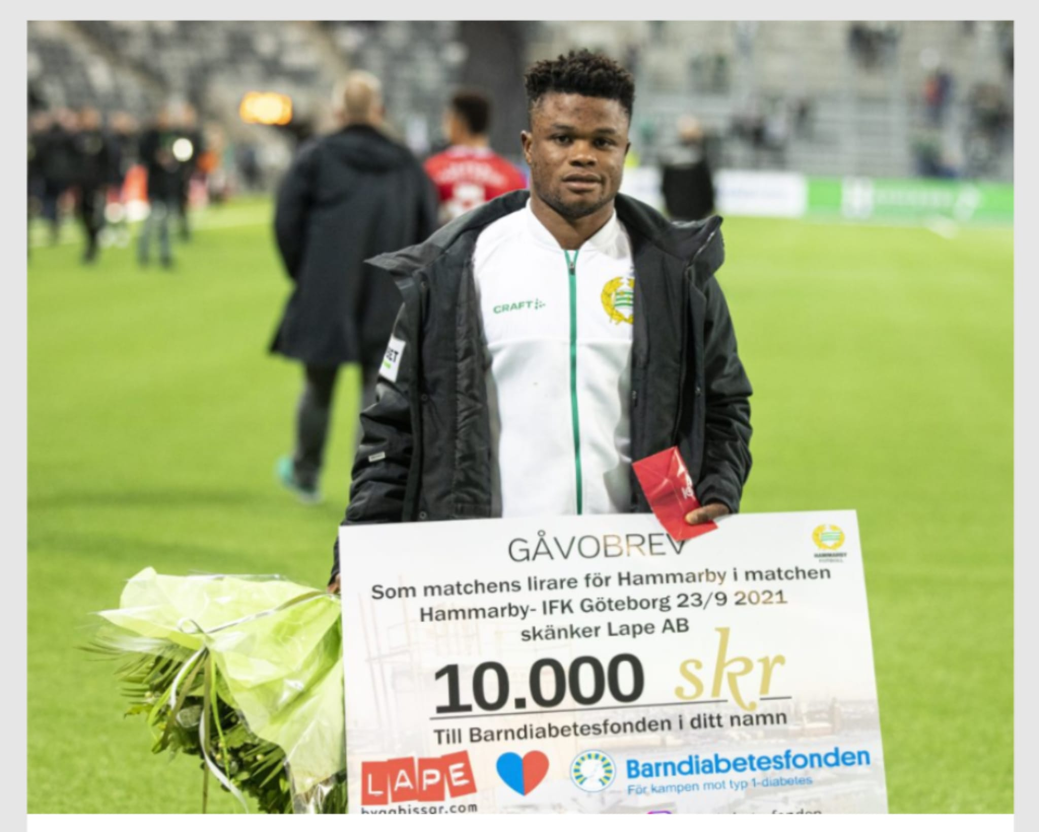 Amoo thrilled to win another man of the match award in Sweden