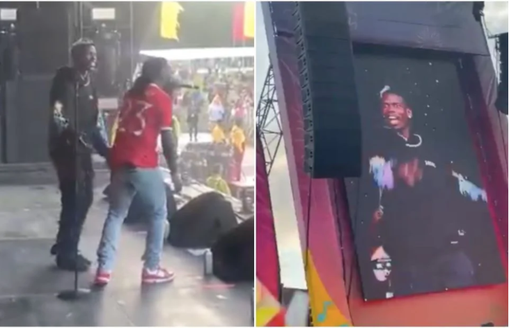 Pogba dances on stage with Burna Boy after helping United to beat Newcastle 4-1