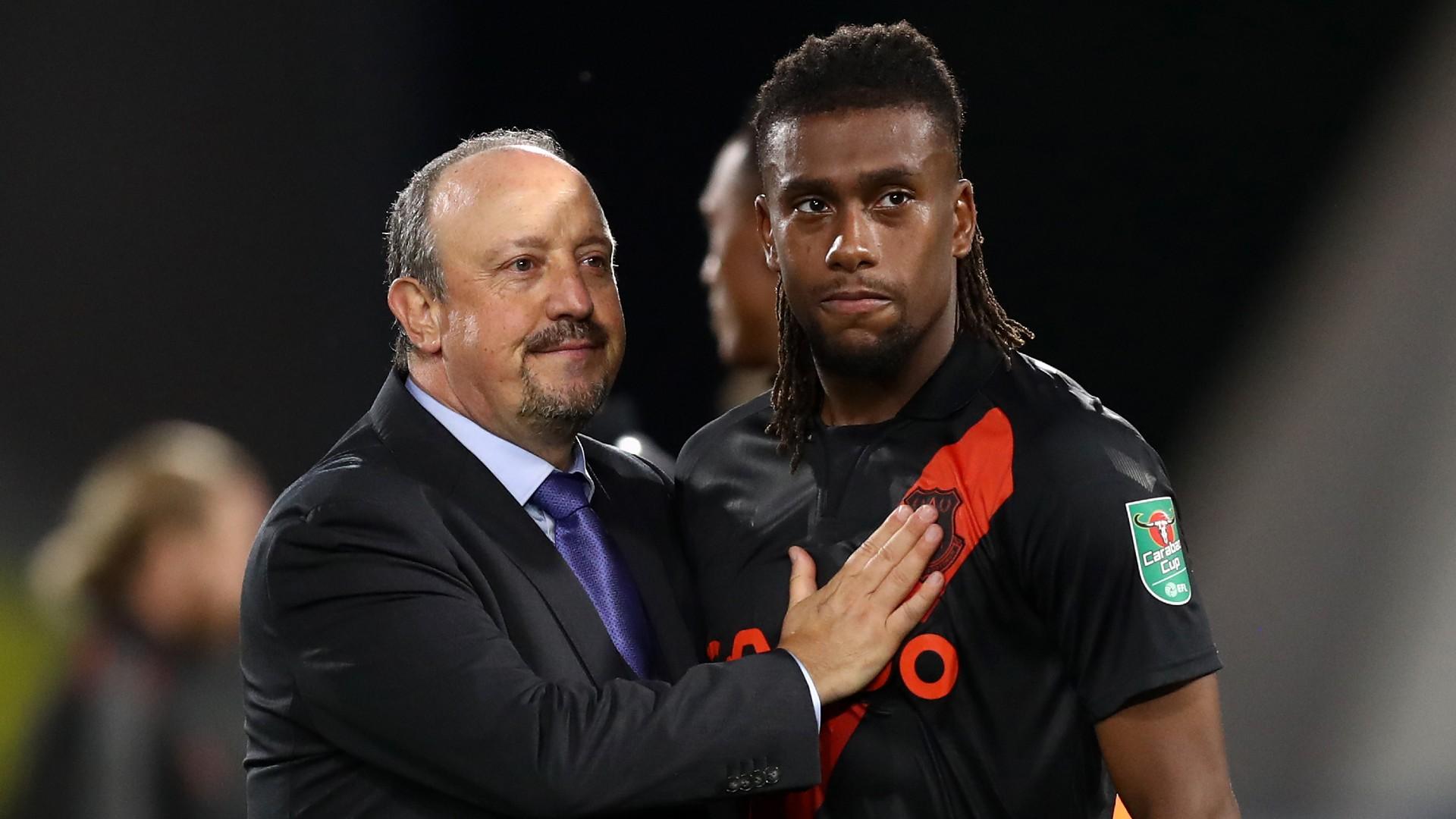 Everton boss Rafael Benitez welcomes Alex Iwobi back to training